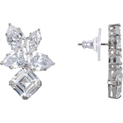 Nina Cubic Zirconia Cluster Stud Earrings