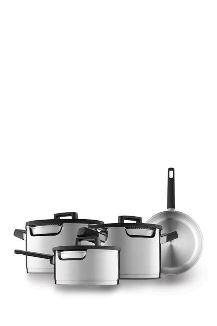 Image of BergHOFF Gem 18/10 SS Cookware 7-Piece Set - Downdraft