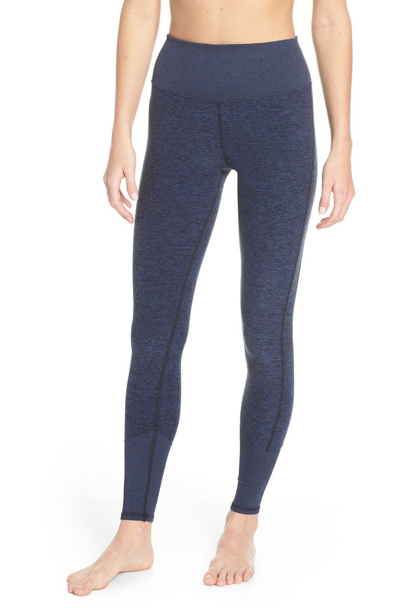 ALO High Waist Lounge Leggings, Main, color, RICH NAVY HEATHER