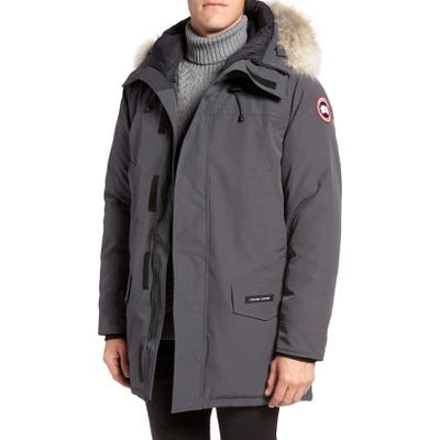 Canada Goose Langford Slim Fit Down Parka With Genuine Coyote Fur Trim, Grey