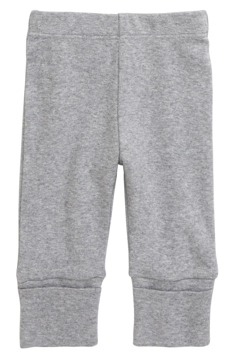 MONICA + ANDY Hello Baby Organic Cotton Pants, Main, color, HEATHER GREY