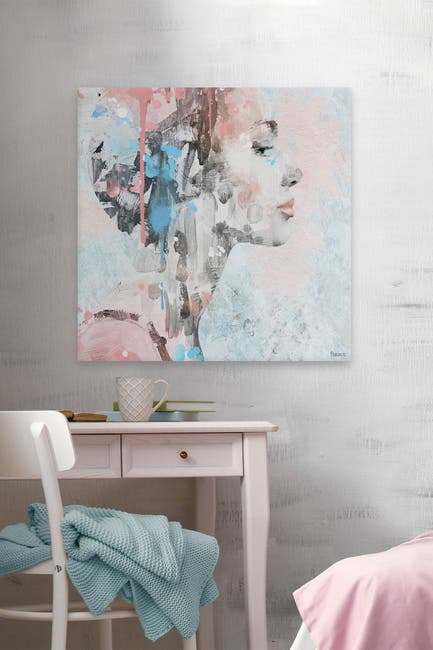 """Image of Marmont Hill Inc. Beauty in Simplicity Painting Print on Wrapped Canvas - 48""""x48"""""""