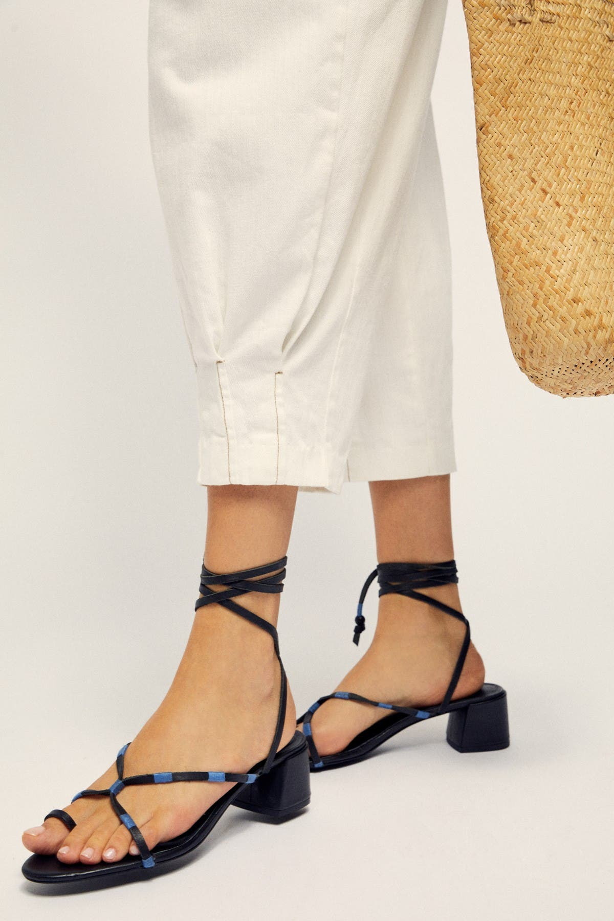 Hermosa Lace-Up Heeled Sandal