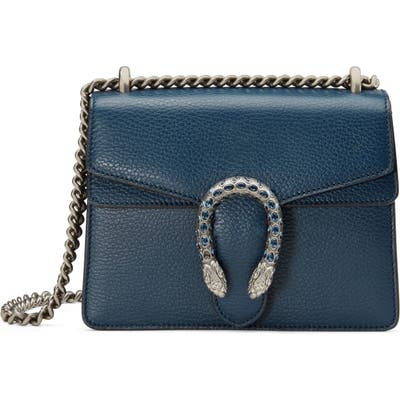 Gucci Mini Leather Shoulder Bag - Blue