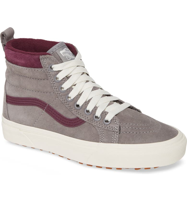 VANS Sk8-Hi MTE Water Resistant Sneaker, Main, color, FROST GREY/ PRUNE