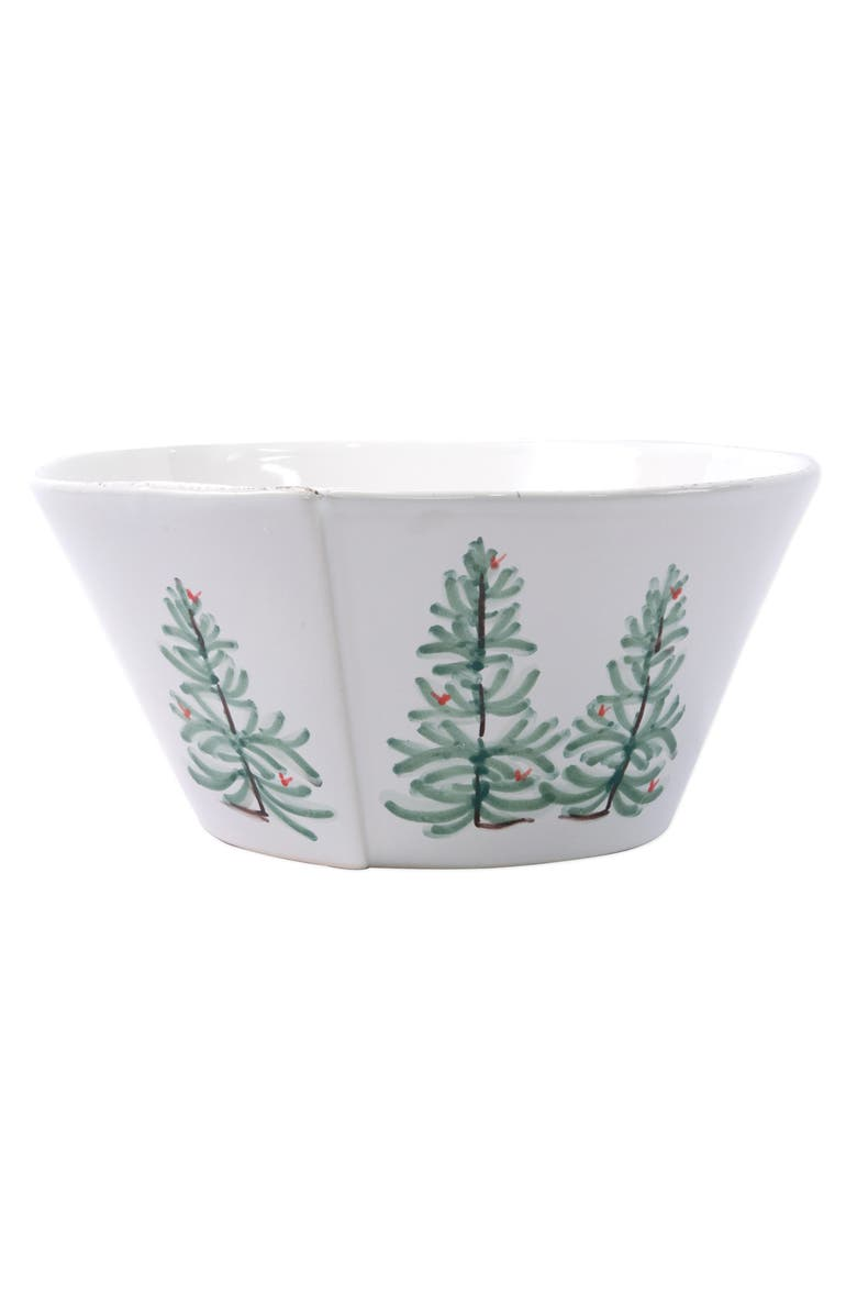 VIETRI Lastra Holiday Large Stacking Serving Bowl, Main, color, MULTI