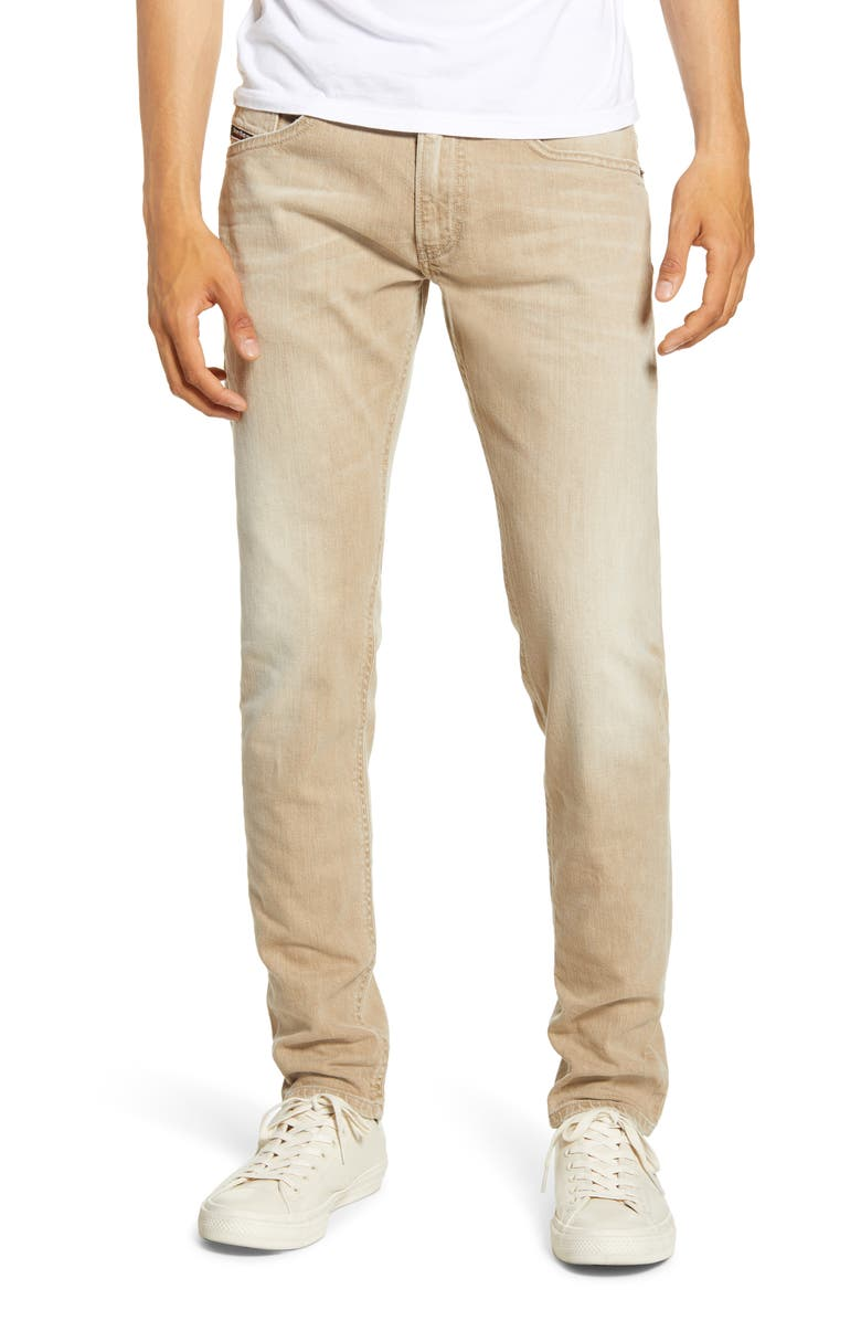 DIESEL<SUP>®</SUP> Thommer Slim Fit Jeans, Main, color, BEIGE