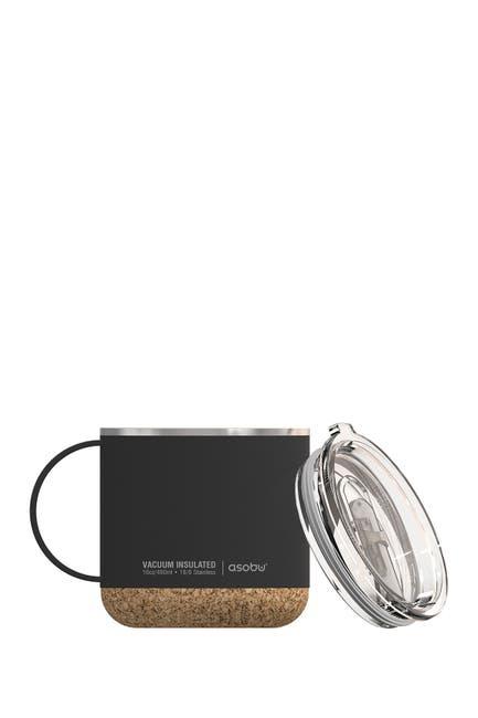 Image of ASOBU Cork Bottom Insulated Coffee Mug & Lid - Black