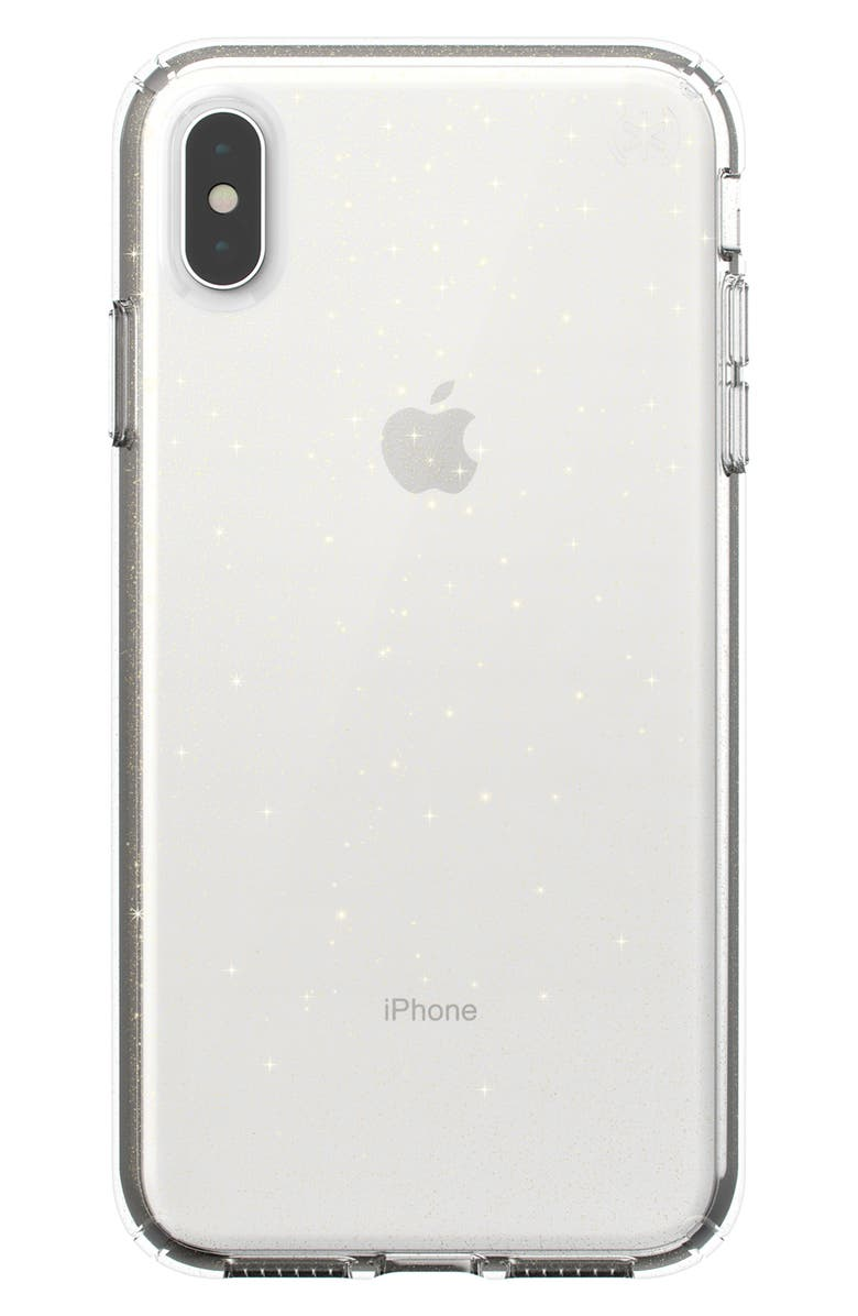 SPECK Presidio Clear iPhone XR or XS Max Case, Main, color, CLEAR XS MAX
