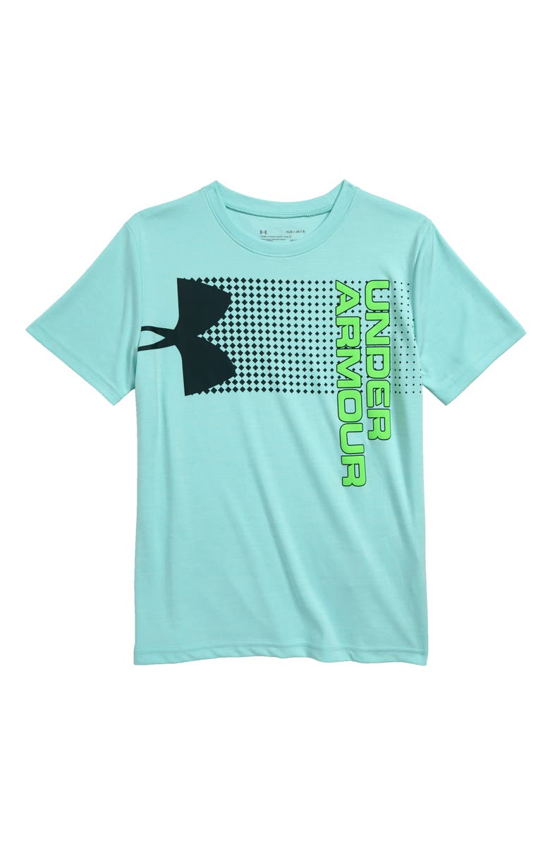 UNDER ARMOUR Crossfade HeatGear<sup>®</sup> Graphic T-Shirt, Main, color, 361