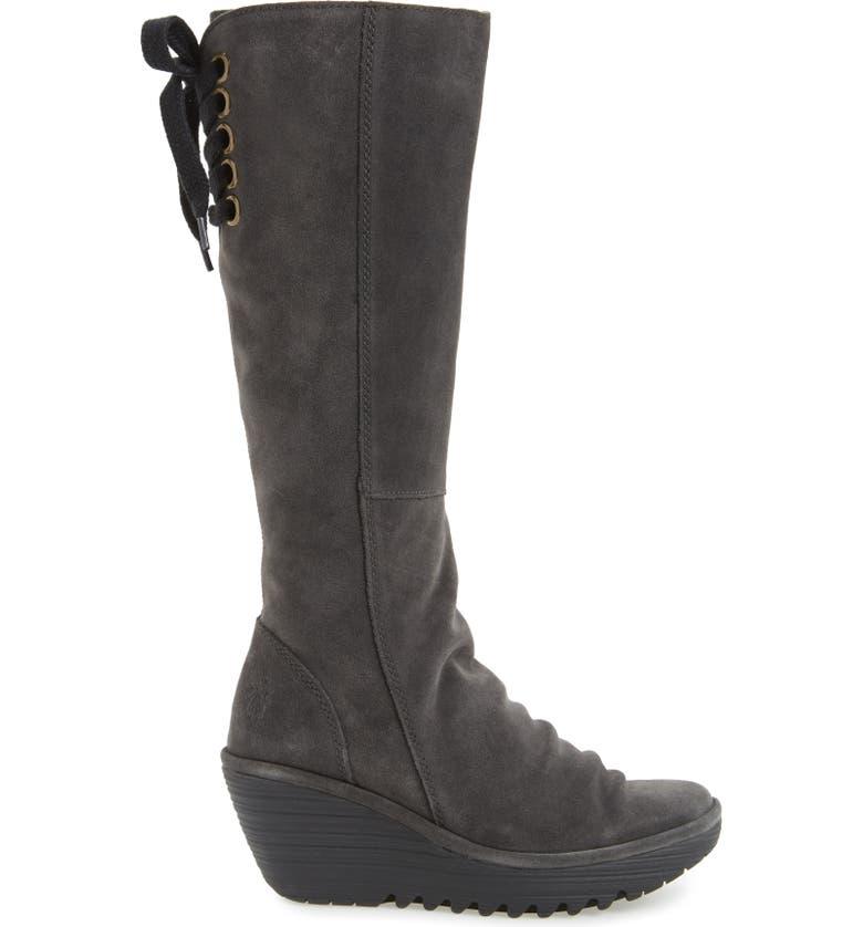 'Yust' Knee High Platform Wedge Boot