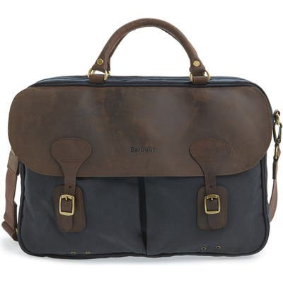 Barbour Waxed Canvas Briefcase -