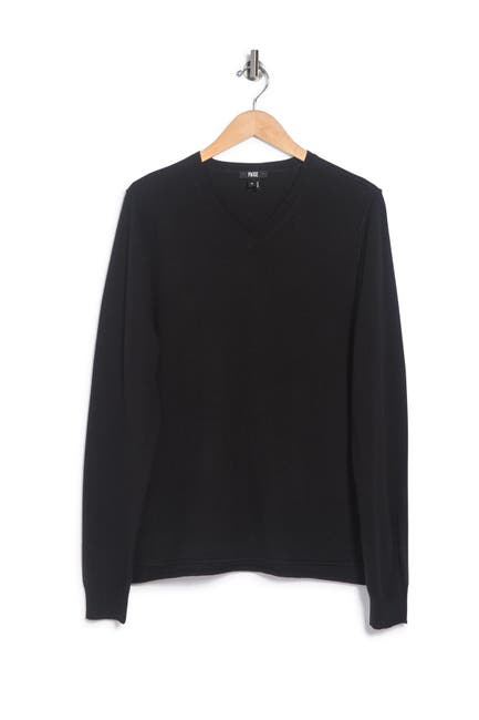 Image of PAIGE Ian V-Neck Wool & Cashmere Sweater