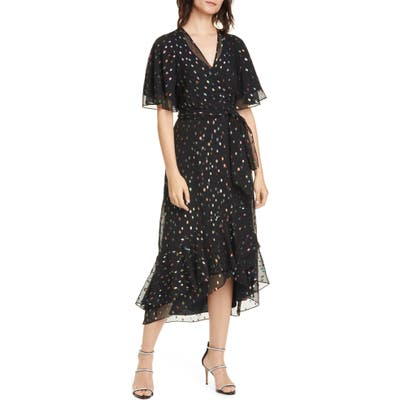 Dvf Berdina Fil Coupe High/low Wrap Dress
