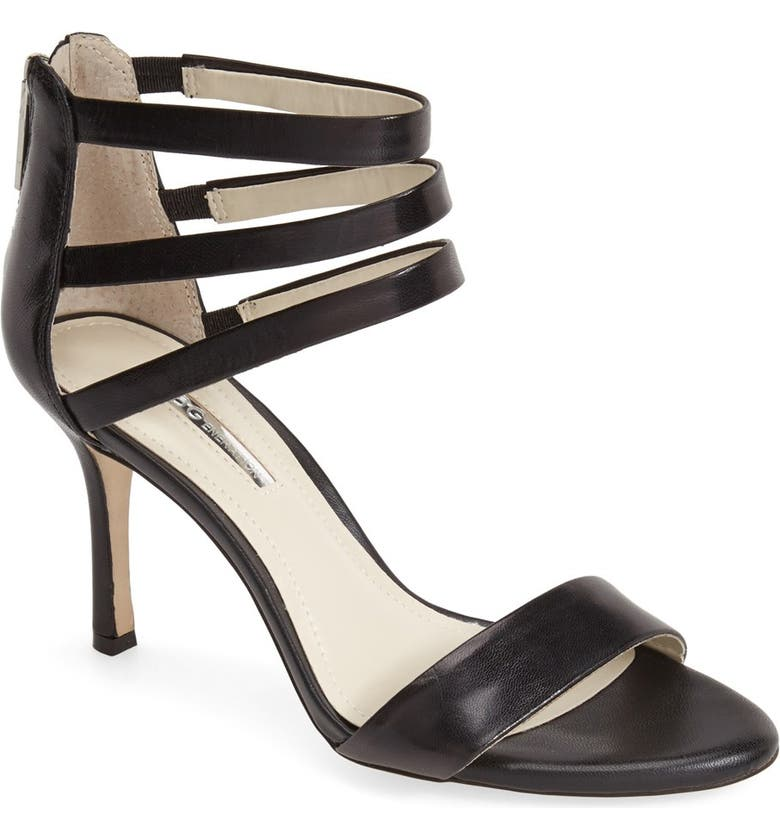 BCBGENERATION 'Darby' Ankle Strap Leather Sandal, Main, color, 001
