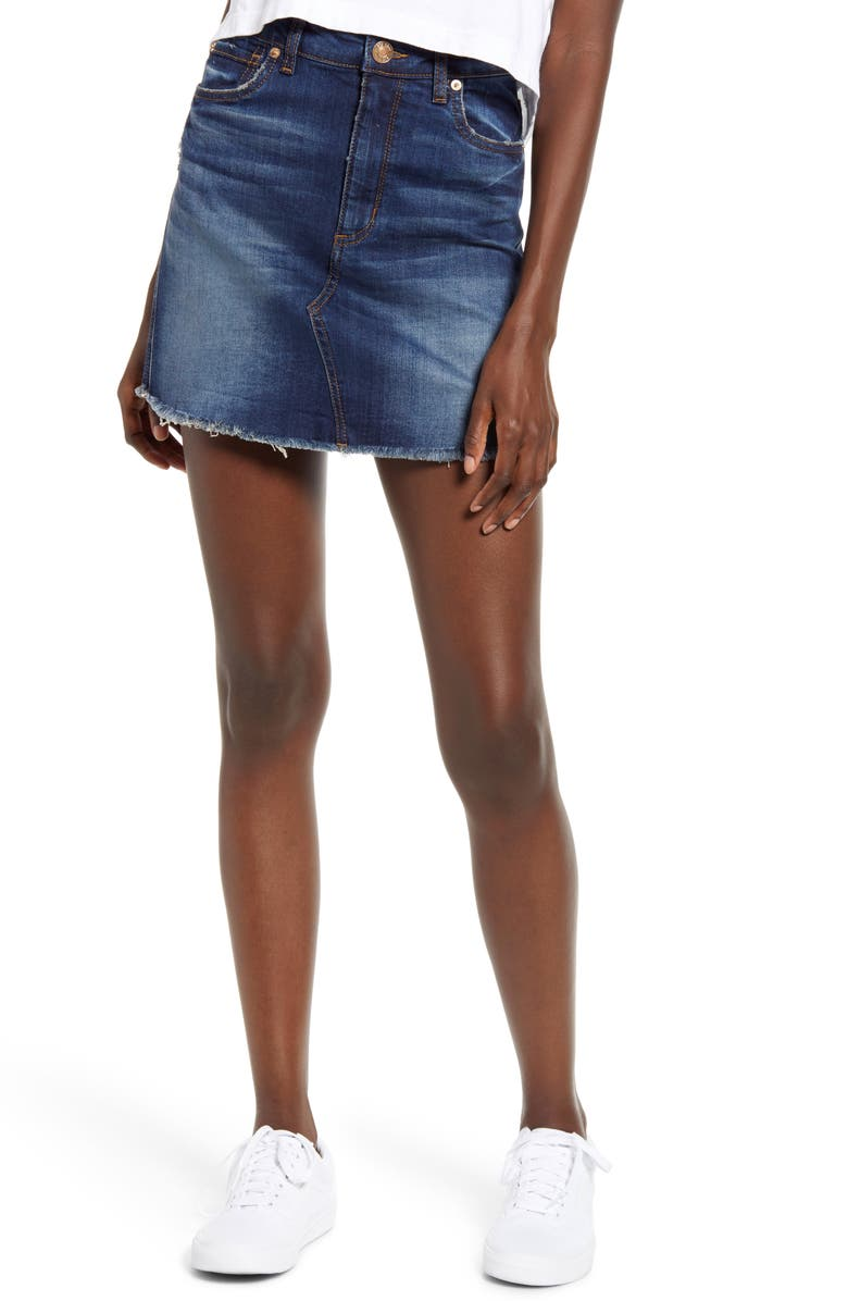 STS BLUE Emily Denim Miniskirt, Main, color, NORTH COBEK