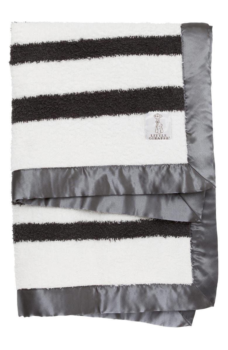 LITTLE GIRAFFE Stripe Chenille Blanket, Main, color, 020
