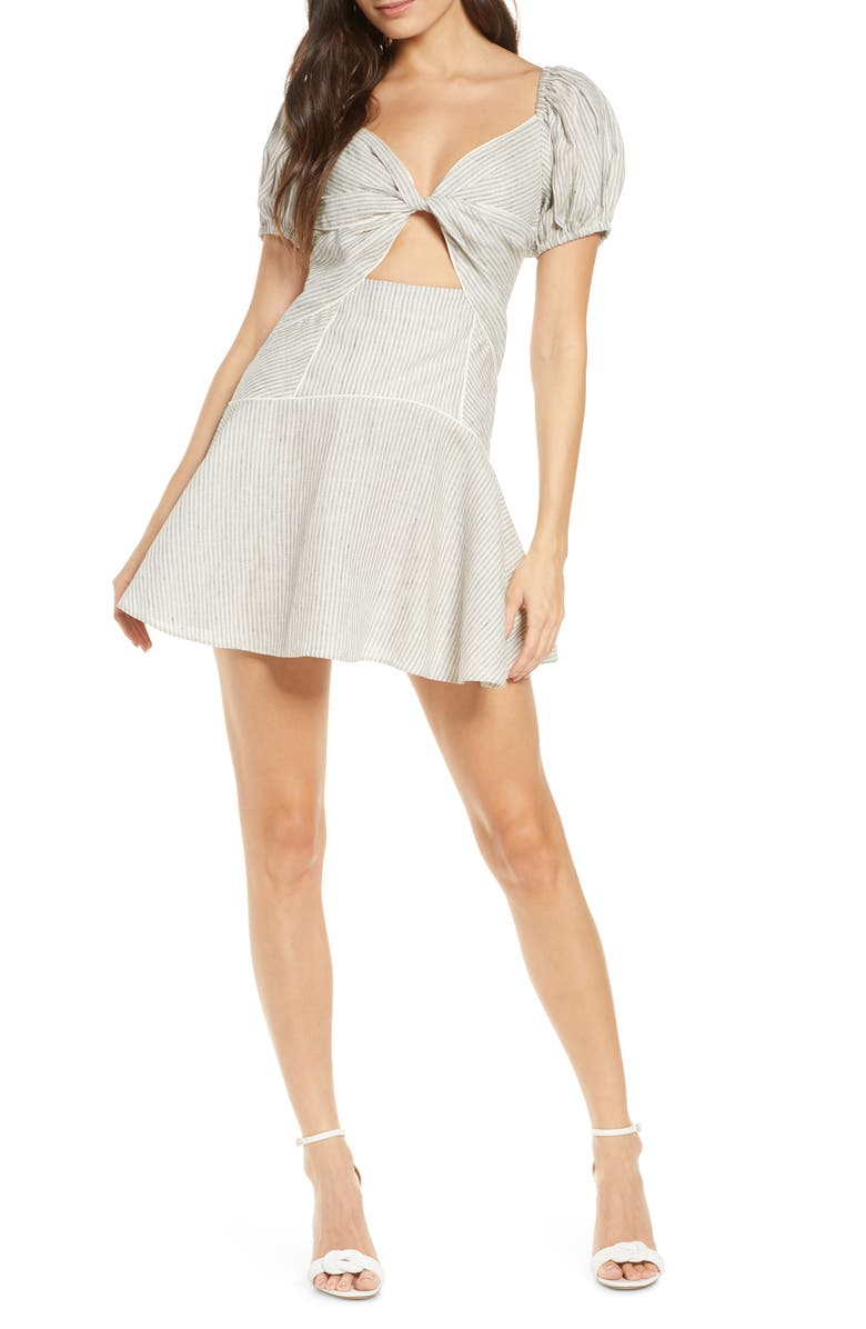 SIGNIFICANT OTHER Rockpool Minidress, Main, color, NATURAL STRIPE