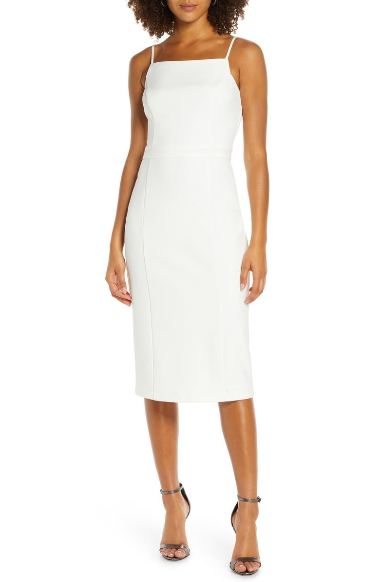 HARLYN Body-Con Dress, Main, color, OFF WHITE