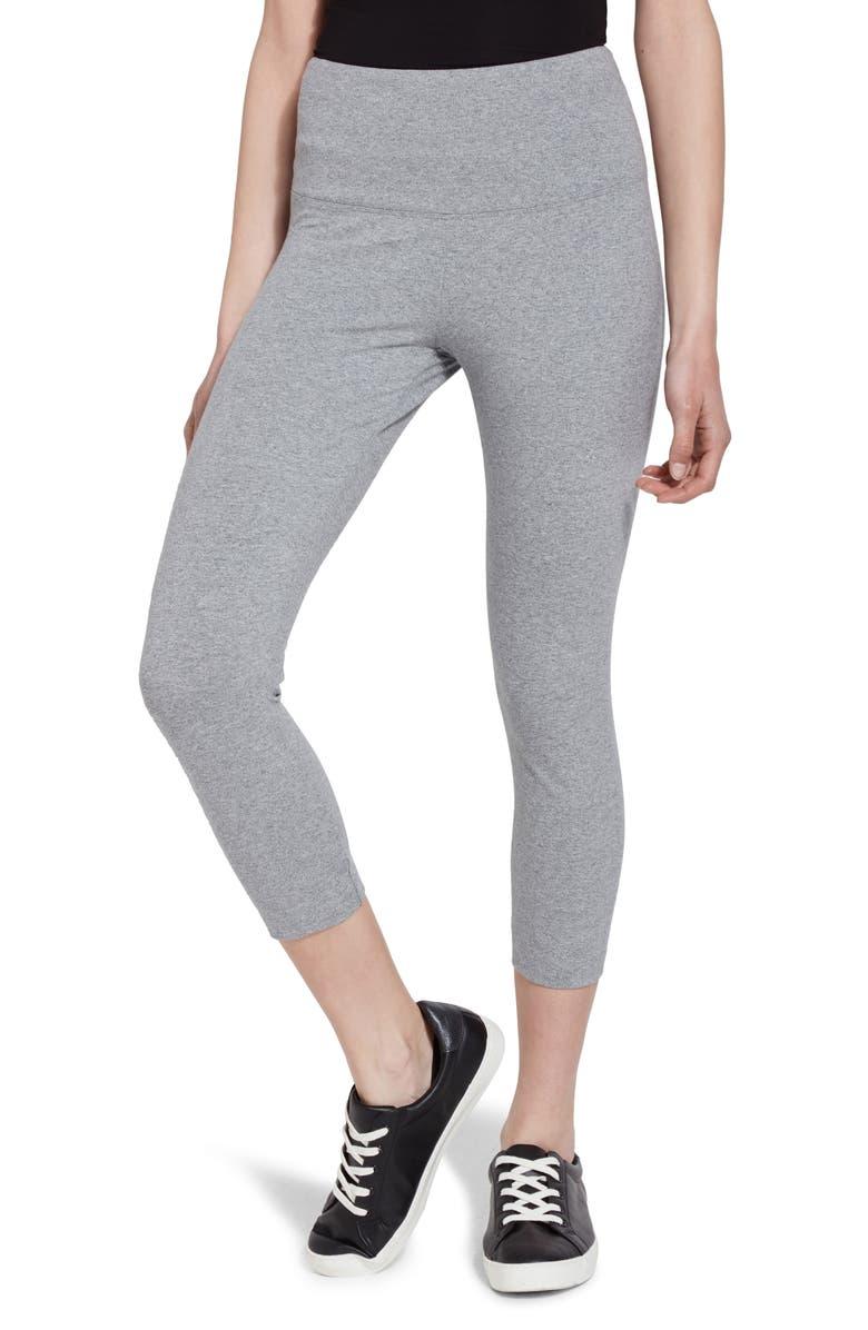 LYSSÉ Flattering Crop Leggings, Main, color, GREY MELANGE