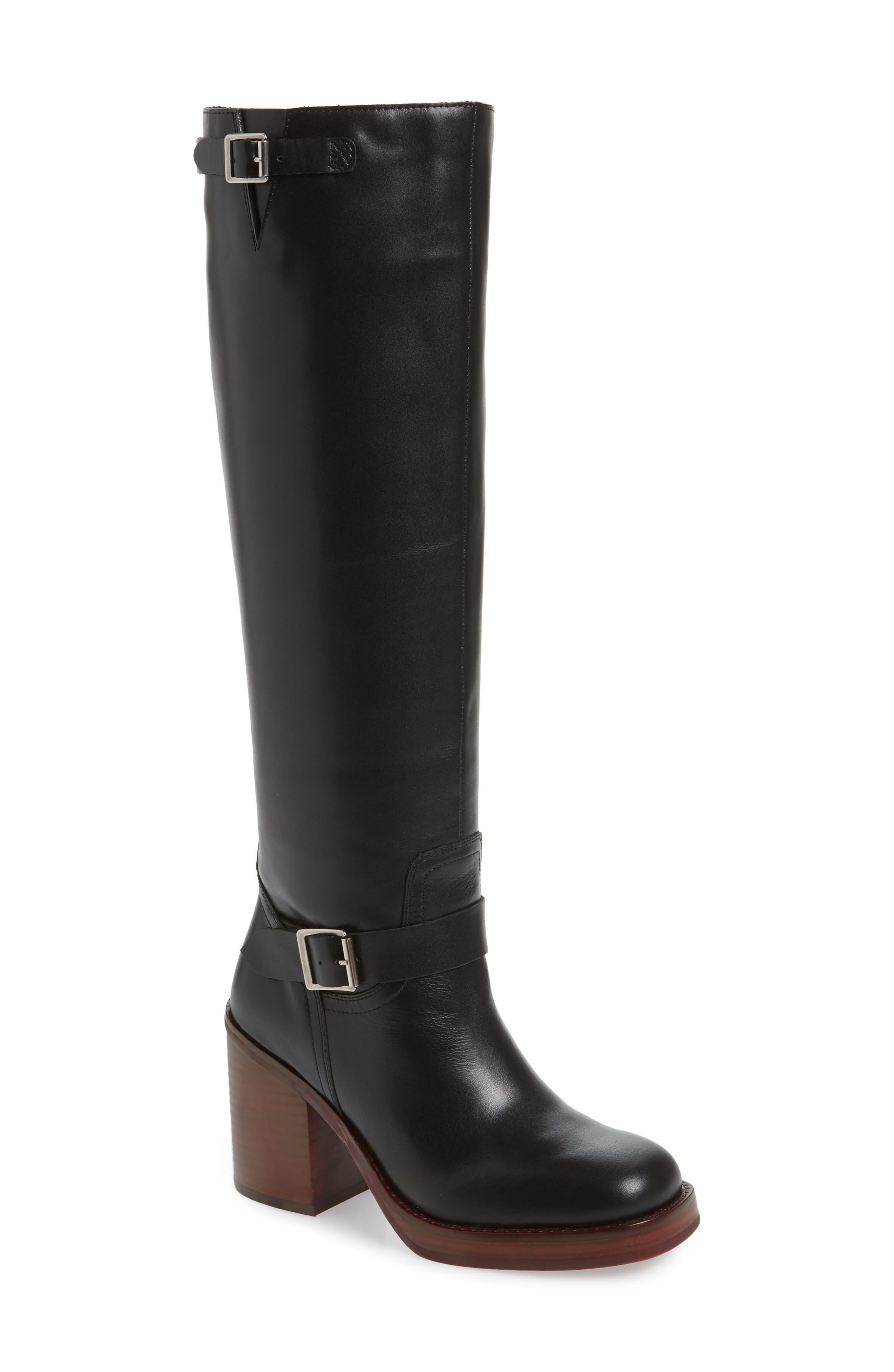 Jeffrey Campbell Lottie-2 Knee High Boot- Black