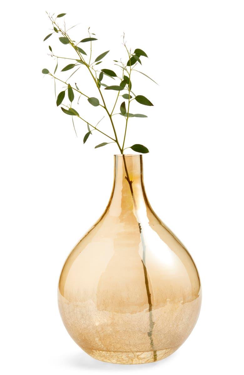 NORDSTROM AT HOME Large Teardrop Vase, Main, color, CLEAR