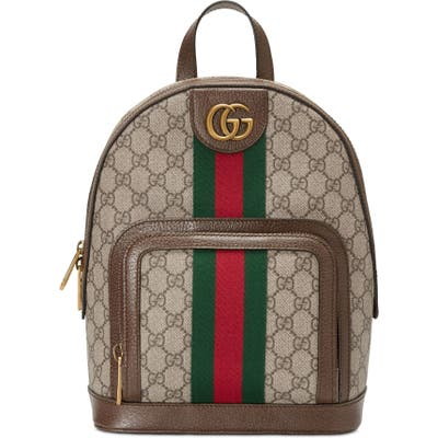 Gucci Small Ophidia Gg Supreme Canvas Backpack - Beige