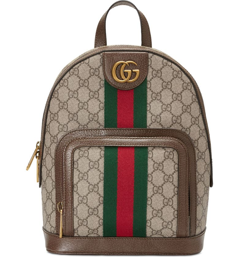 2142745f Small Ophidia GG Supreme Canvas Backpack