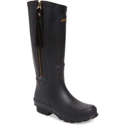 Joules Collette Waterproof Rain Boot, Black