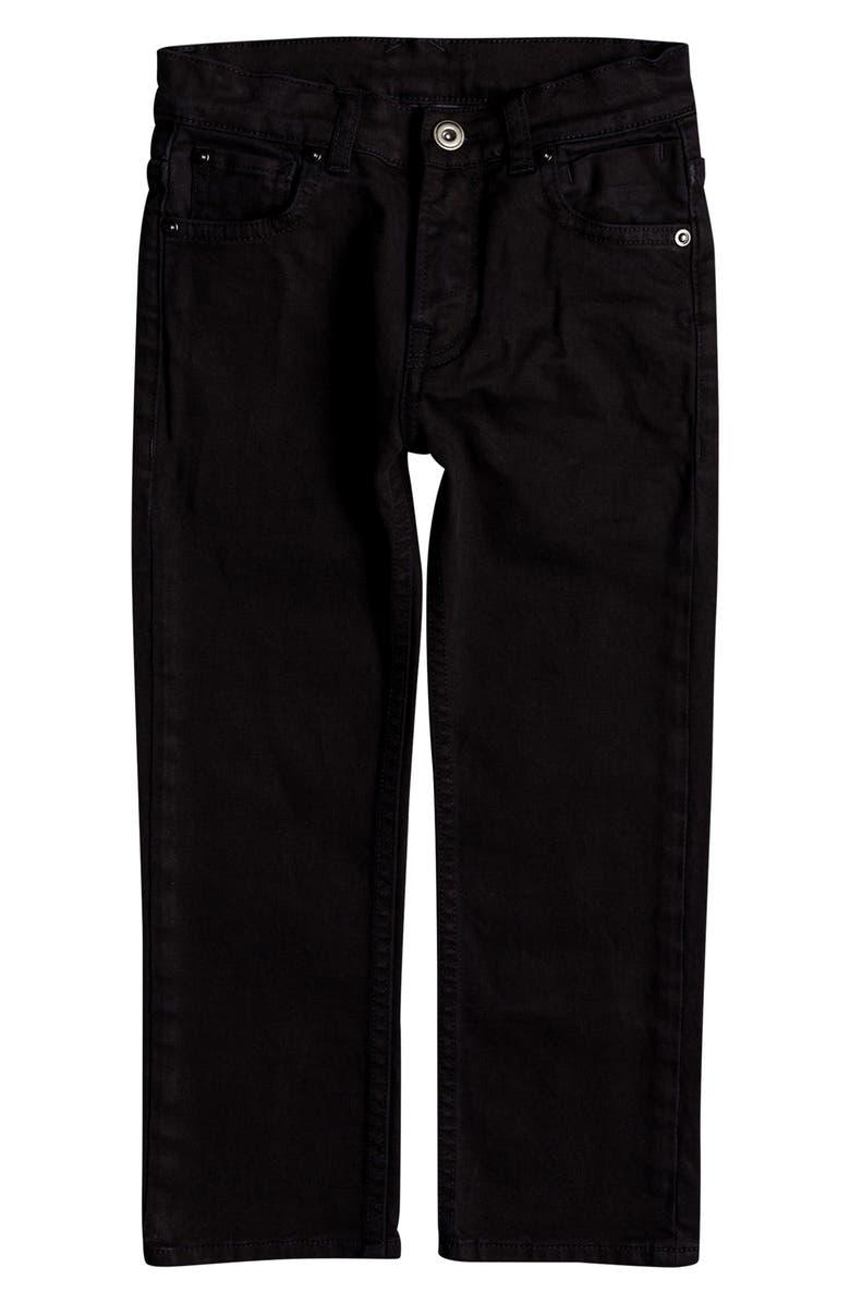 QUIKSILVER Distorsion Colors Slim Fit Straight Leg Jeans, Main, color, TARMAC
