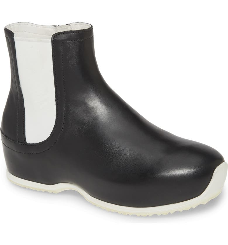 ROSETTA GETTY x ECCO Clog Bootie, Main, color, BLACK LEATHER