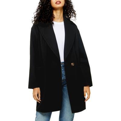 Petite Topshop Carly Coat, P US (fits like 6-8P) - Black