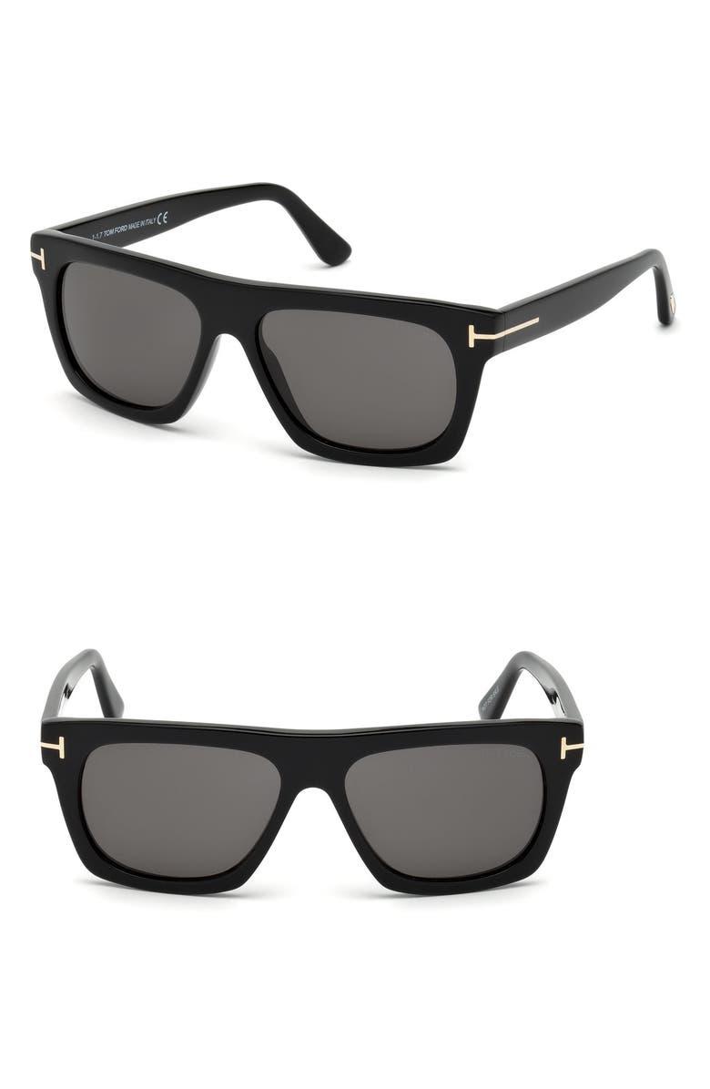 TOM FORD Ernesto 55mm Sunglasses, Main, color, 001