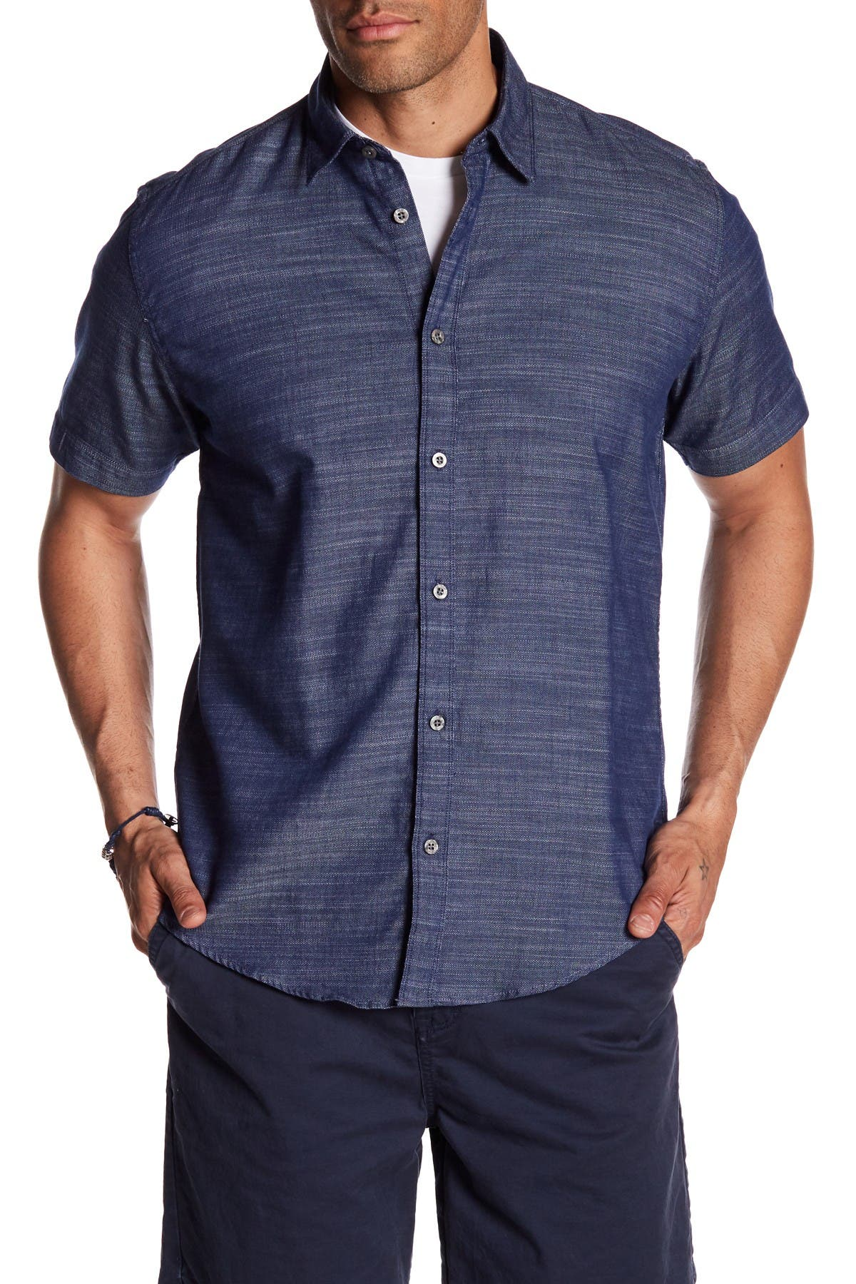 Image of COASTAORO Tides Micro Zigzag Slim Fit Shirt