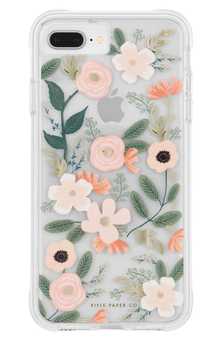 CASE-MATE<SUP>®</SUP> x Rifle Paper Co. Wildflowers iPhone 6/7/8 Plus Case, Main, color, MULTI