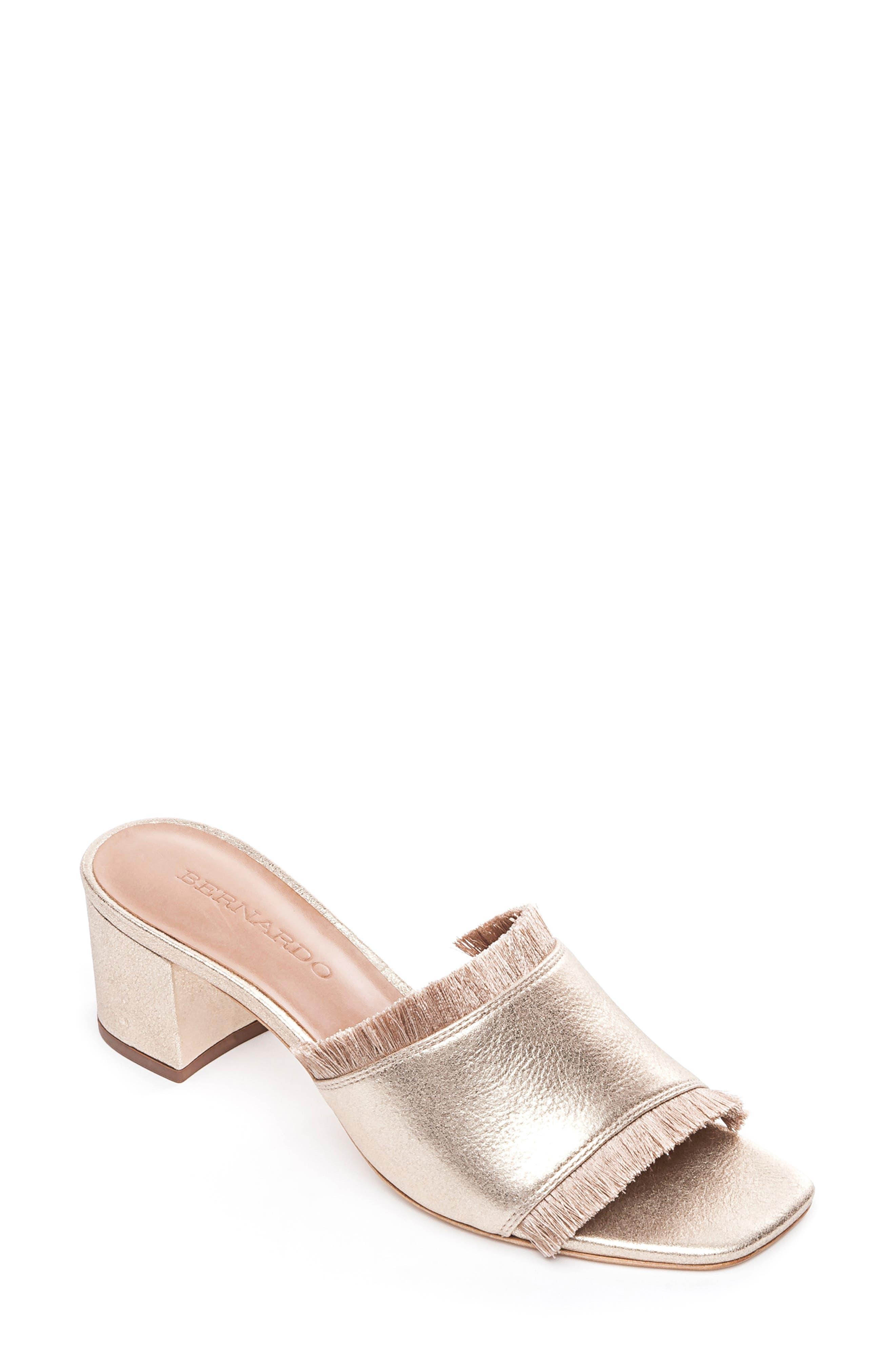 Bernardo Bryn Slide Sandal, Metallic