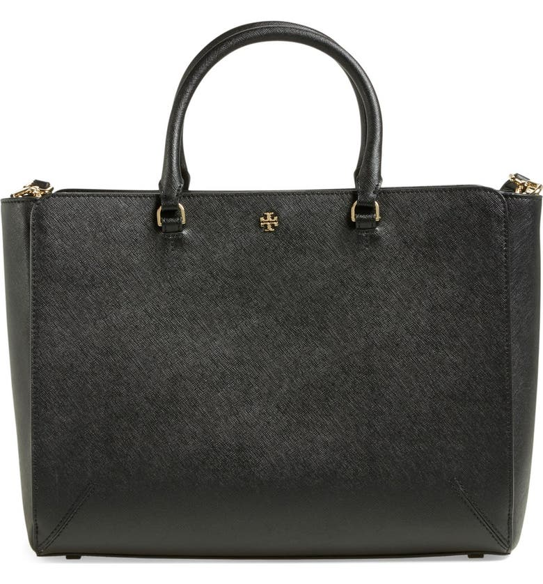 TORY BURCH 'Large Robinson' Zip Tote, Main, color, 002