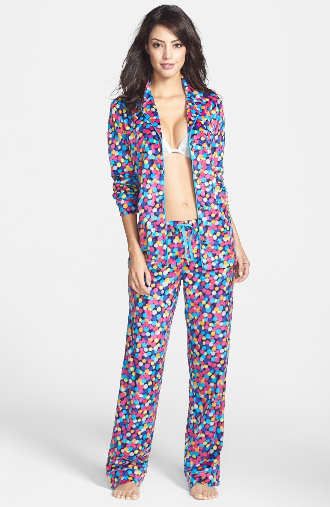 ,                             Long Sleeve Microfleece Pajamas,                             Main thumbnail 26, color,                             402