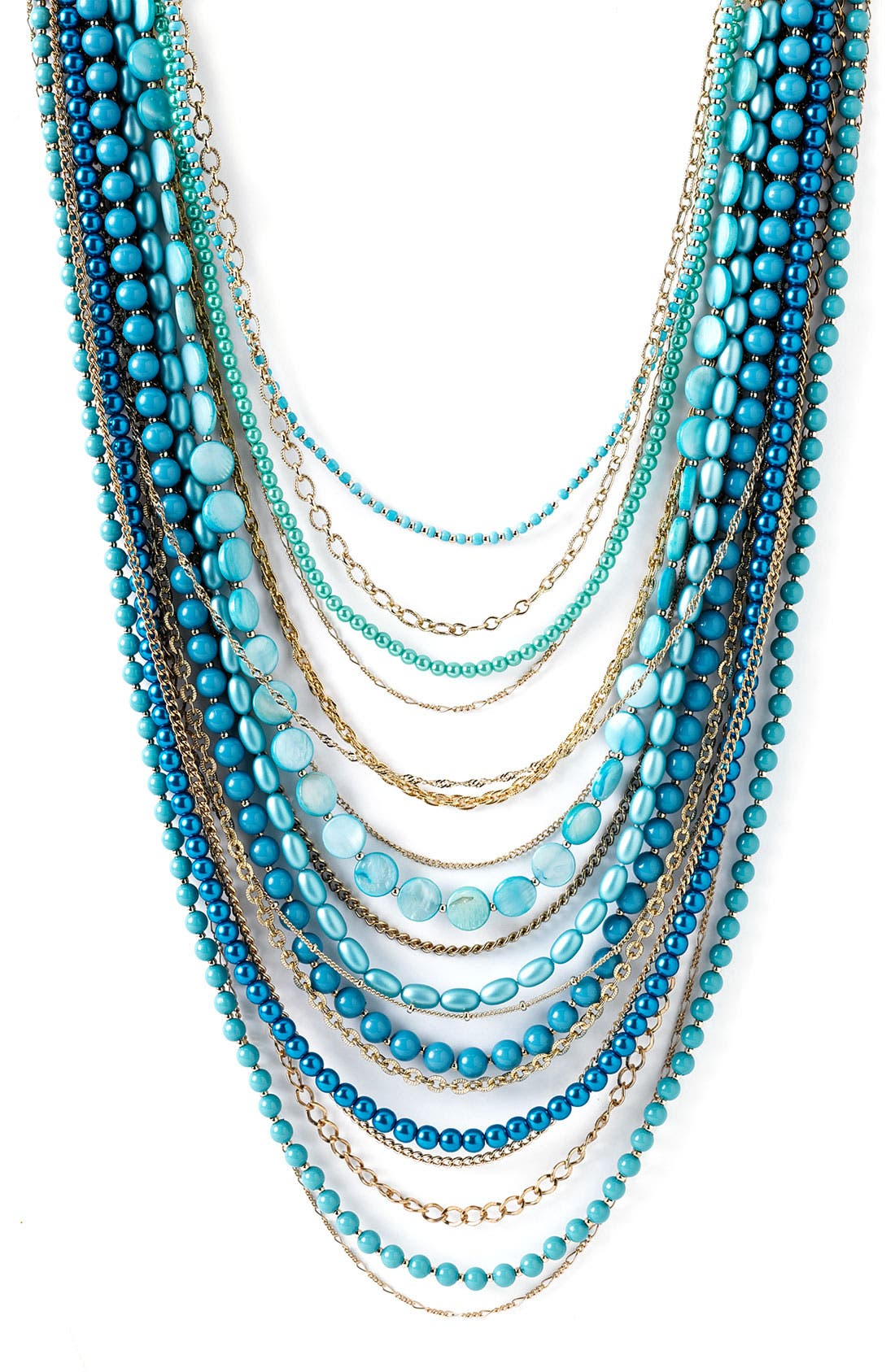 ,                             Beaded Long Multistrand Necklace,                             Main thumbnail 15, color,                             440