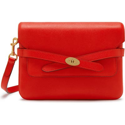 Mulberry Bayswater Pebbled Leather Crossbody Bag - Red