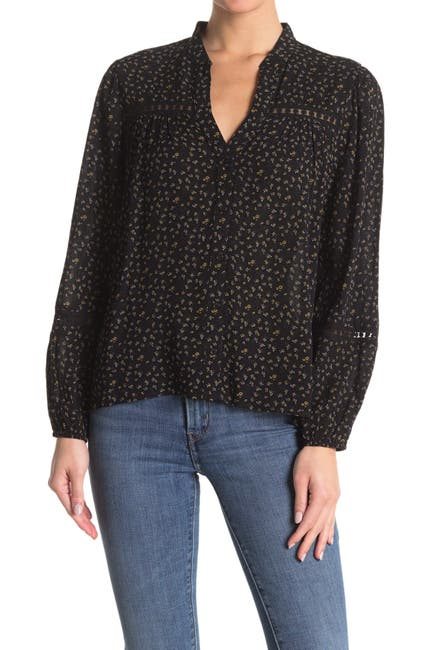 Image of Everleigh Floral Lace Trim Shirt