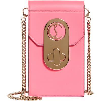 Christian Louboutin Elisa Leather Phone Crossbody Bag - Pink