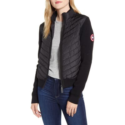 Canada Goose Hybridge Quilted & Knit Jacket, (0) - Black