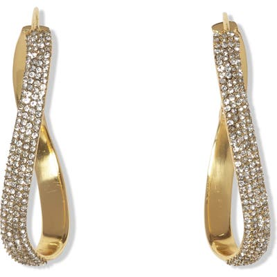 Vince Camuto Pave Twist Hoop Earrings