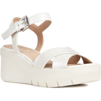 Geox Torrence Platform Sandal, White