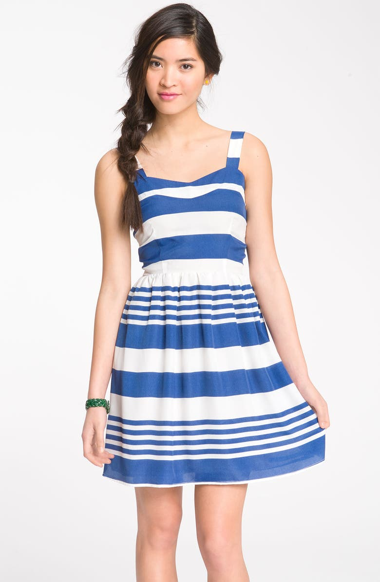 DEE&RAY Nautical Stripe Sundress, Main, color, 410