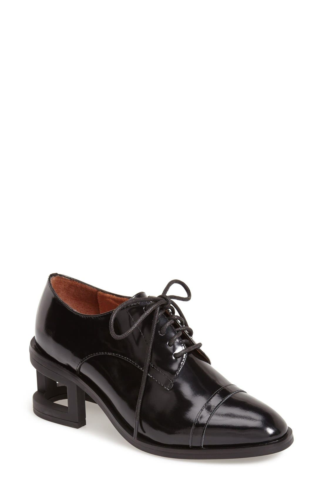 'Sheldon' Leather Oxford, Main, color, 001
