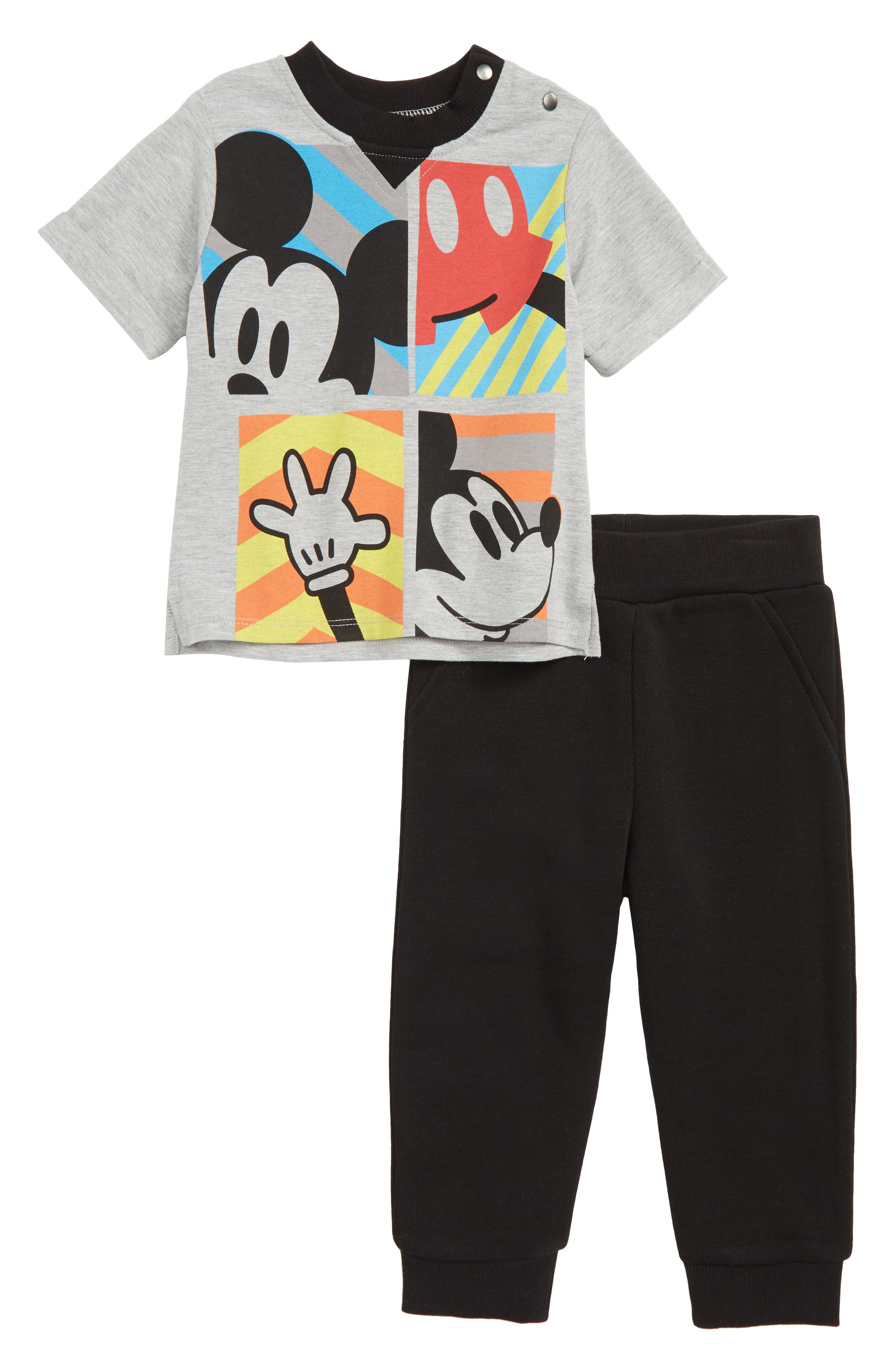Image of Little Brother By Pippa & Julie Mickey Mouse T-Shirt & Sweatpants Set
