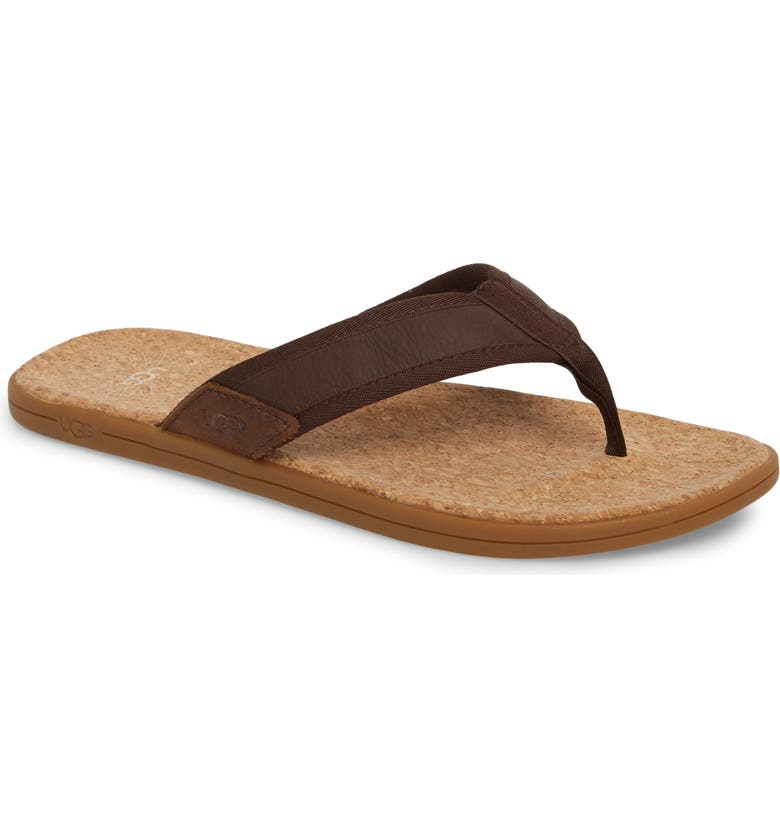 UGG<SUP>®</SUP> Seaside Flip Flop, Main, color, CHESTNUT
