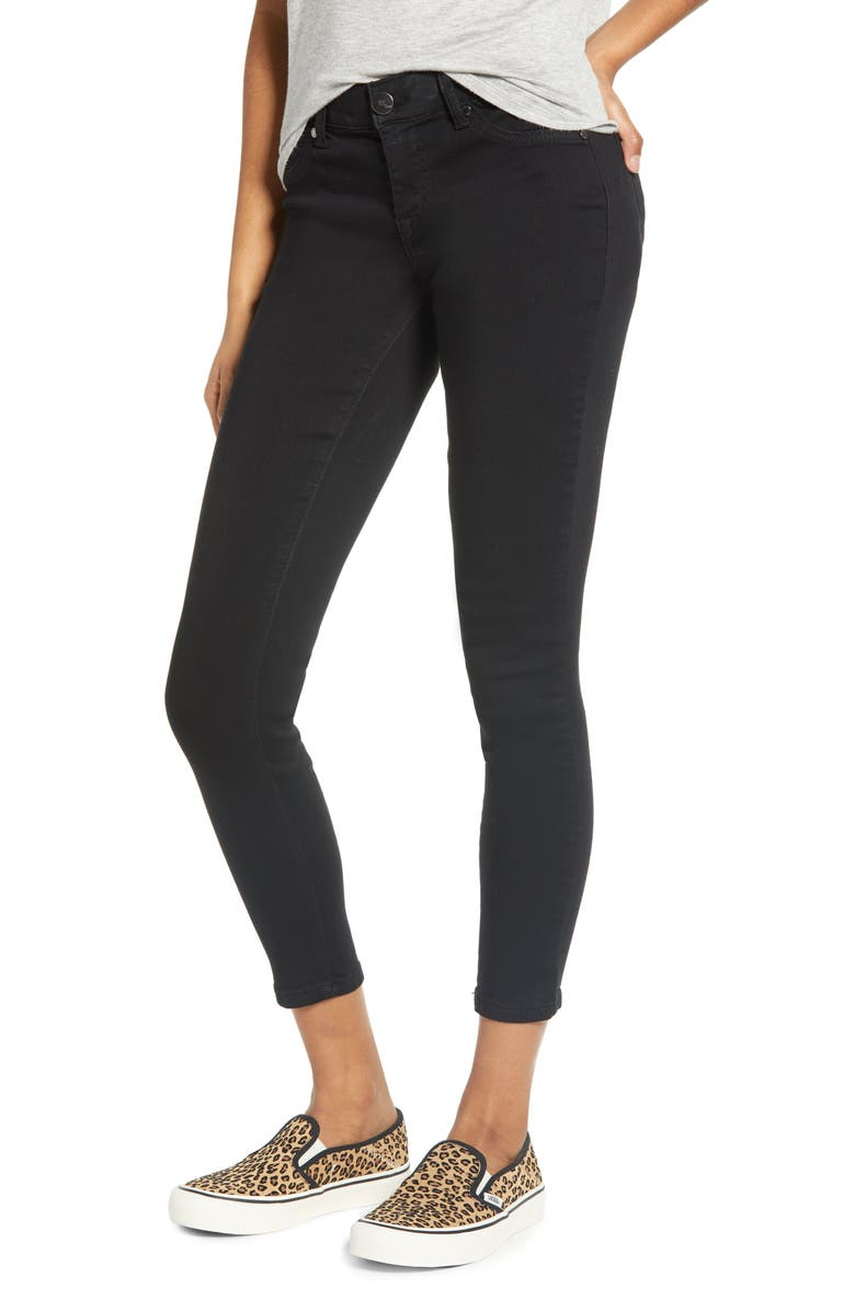1822 DENIM Ab-Solve Skinny Jeans, Main, color, BLACK